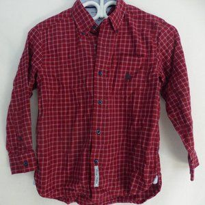 TOMMY HILFIGER, boy's, small, button, plaid shirt